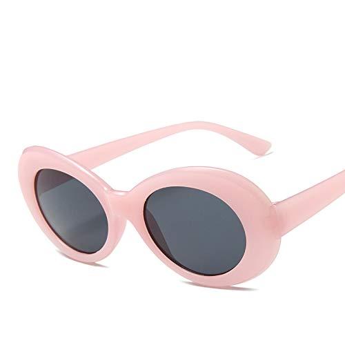 Astemdhj Gafas de Sol Sunglasses Gafas ClásicasGafas Hombres Gafas De Sol De Moda Mujer Hombre Gafas De Sol Ovaladas Diseñador Uv400 PinkgreyAnti-UV