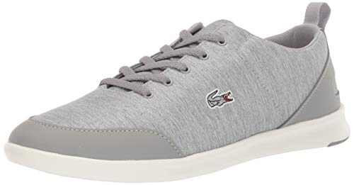 Lacoste Women's Avenir Sneaker, Grey/Off White, 7 Medium US