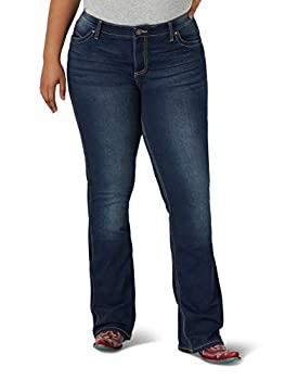 Wrangler Women s Q-Baby Mid Rise Boot Cut Ultimate Riding Jean Dark Blue 26X32