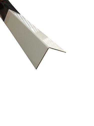 Alu Winkel 2 Meter Weiß pulverbeschichtet RAL 9016 Kantenschutz (20 x 20 mm)