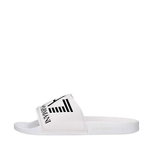 Emporio Armani EA7 Logo Sliders White