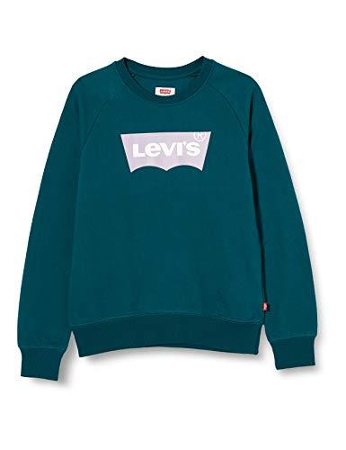 Levi's Kids Mädchen Pullover Lvg Key Item Logo Crew Deep Teal 16 Jahre