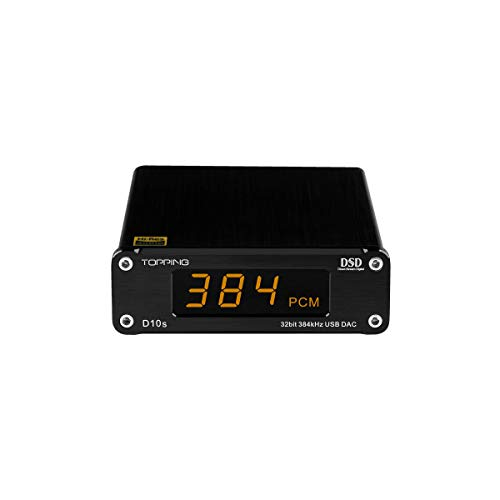 Topping D10s Mini USB DAC CSS XMOS XU208 ES9038Q2M OPA2134 Audio Amplifier Decoder Black