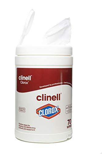Clinell Clorox - Toallitas húmedas (bote de 70 unidades)