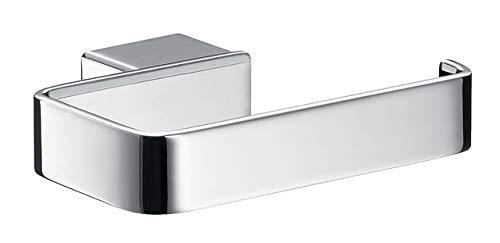 Emco 50001601 Loft Toilettenpapierhalter, Farbe emco-steel, Breite 128 mm, ohne Deckel, Rollenhalter