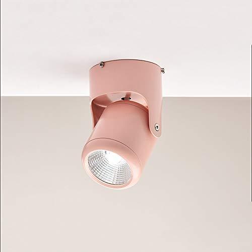 Raelf 7W COB Kleine Deckenleuchte Macaron Wohnzimmer Aufputz LED Downlight 360 ° Verstellbare Decke Downlight Küche Wohnzimmer...