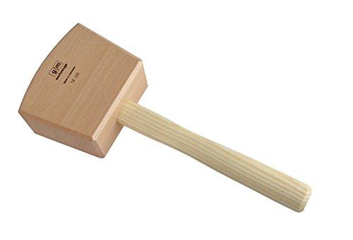 GM Schreinerklüpfel 14,0 cm Gr.2, Klüpfel Holzhammer aus Rotbuchenholz GM - Qualität