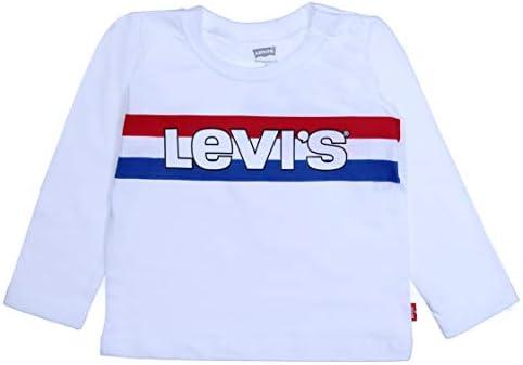 Levi's Camiseta de Blanca Manga Larga para Niño - NP10094