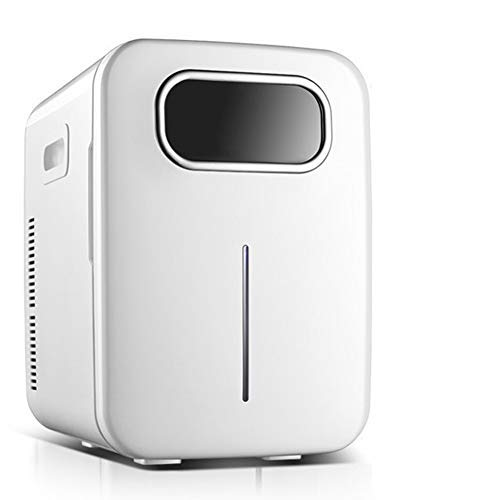 HAOT Mini Fridge,Mini Fridge Cooler & Warmer, 20L Car Refrigerator, Small Household Single-Door Student Cosmetic Mask Cooling and Heating Box, Compact/Portable/Quiet, for Home/Bedroom/Holiday/Foo