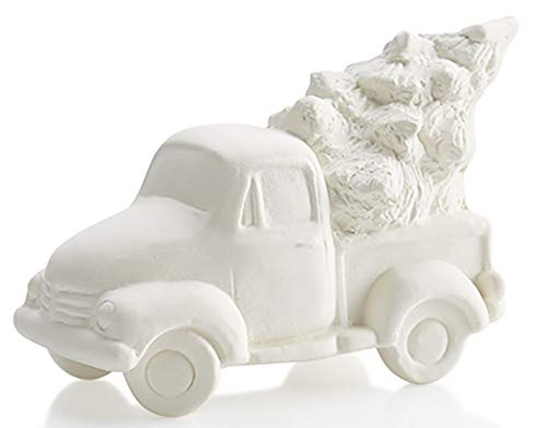 The Lovable Antique Truck with Holiday Tree - Paint Your Own Adorable Ceramic...