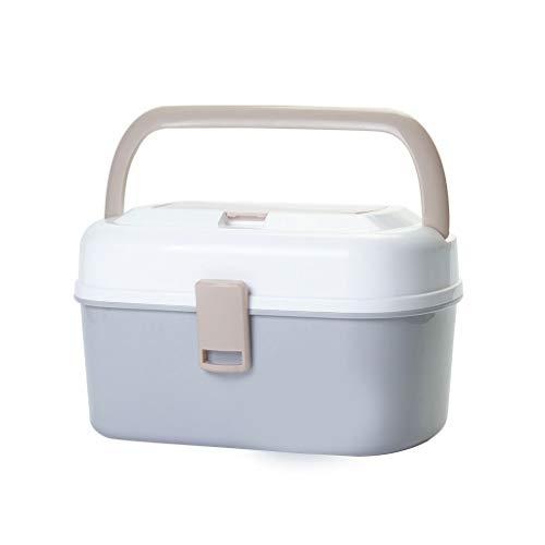 Medicijnkastje Emergency Kit, Portable Medicine Box, Children Storage Tool, Medicine Storage, Afneembare lade, met grote capaciteit, (grijs) EHBO doos