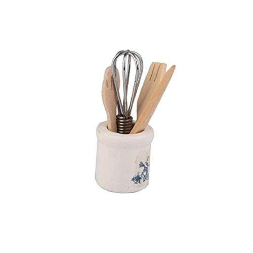 1set 1:12 Miniatura De Cocina Para Niños Juego De Herramientas De Muñecas Juegos De Imaginación Juguetes Cuchillo De Cocina Vajilla Ideal Opción Práctica