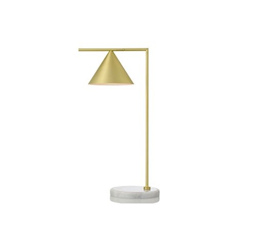 ZfgG Galvanoplastia Oro Lámpara de mesa de hierro forjado Mármol Base Lámpara de escritorio de cabecera, Luz de cabeza Rotación de 270 ° Moderno Minimalista Mesa de diseño Luz Sala de estar Decoración