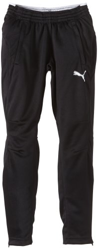 PUMA Kinder Hose Training Pants Trainingshose, Black/white, 140
