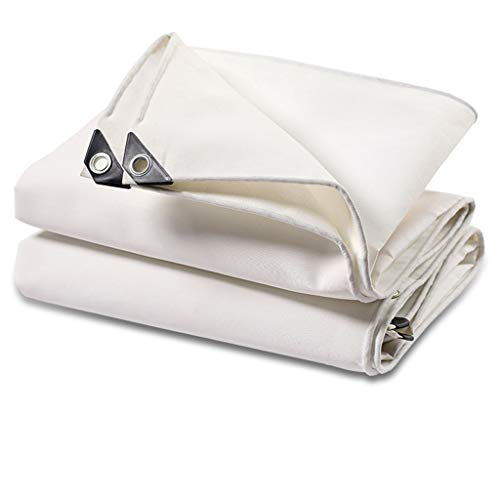 WXQIANG Thick verschleißfeste Anti-Aging-weiße Leinwand Plane Regen Sonnenschutz Schatten Zelt Tuch Regen Tuch im Freien Tuch Markise (Color : A, Size : 3 * 3m)