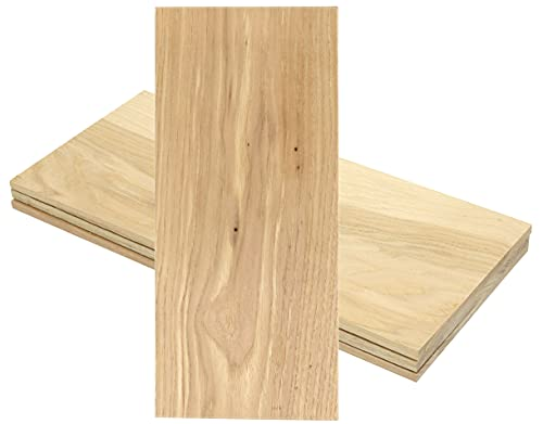 Iconikal 12 x 5-Inch Wood Grilling Smoking Plank, Hickory, 4-Pack