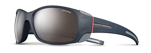 Julbo Monterosa Mountain Sunglasses, Dark Blue/Gray/Coral Frame - Spectron Brown Lens w/Silver Mirror