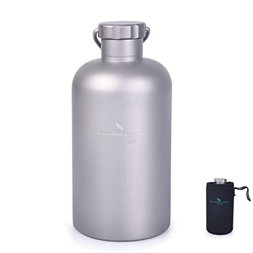iBasingo 400 ml Botella De Titanio Botella De Agua Al Aire L