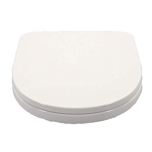 Cubierta de Asiento de Inodoro antibacteriana Tipo U de Resina Universal con bisagras de liberación de Cierre suavepara baño, Color Blanco
