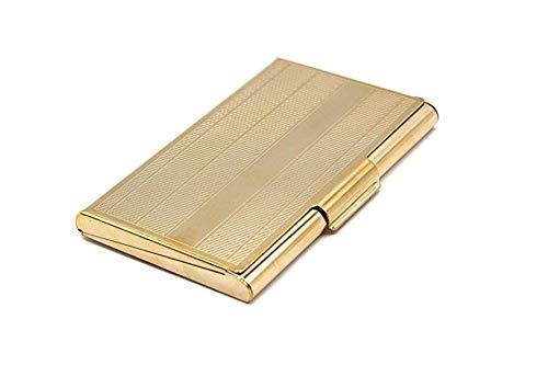 名刺携帯ケース - プロフェッショナルな男性と女性のための豪華なクロームシルバー通話カードホルダー - スリム - フィット:15~20枚のカード