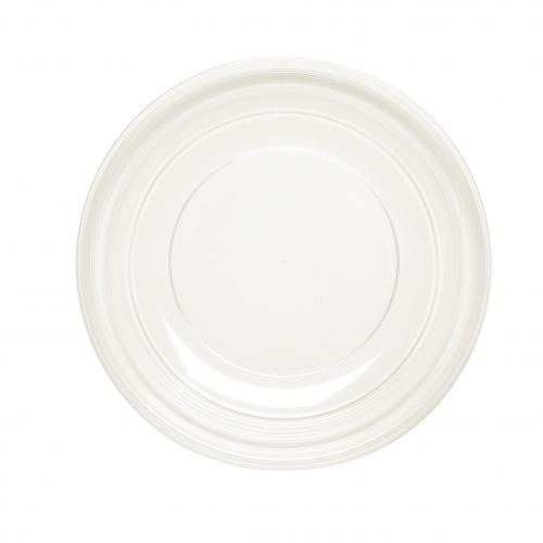Plastico 1005 clair rond Plastique Platters- (lot de 25)