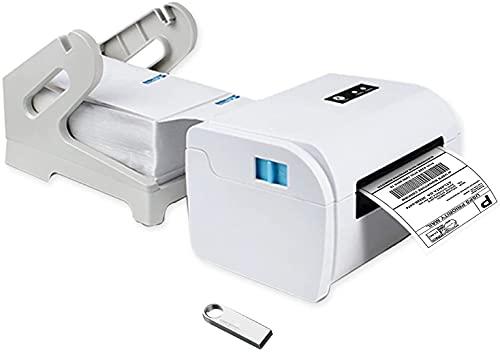 TEROW T9200 Impresora térmica de Etiquetas de Escritorio 160 mm/s Impresora de Etiquetas USB de Alta Velocidad Impresora de Recibos de código de Barras de 4,3 Pulgadas Compatible con Windows/Mac