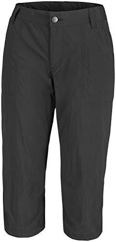 Columbia Silver Ridge 2.0, Pantalón Capri de Senderismo Nailon, Mujer, Negro, Talla US: W2/L21/ (EU W34/L21)