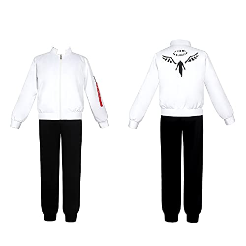 FLMunan Tokyo Revengers Cosplay Disfraz Walhalla Baji Keisuke Hanemiya Kazutora Uniforme Chaqueta Camisa Pantalones Conjunto Completo Traje de Halloween Regalos