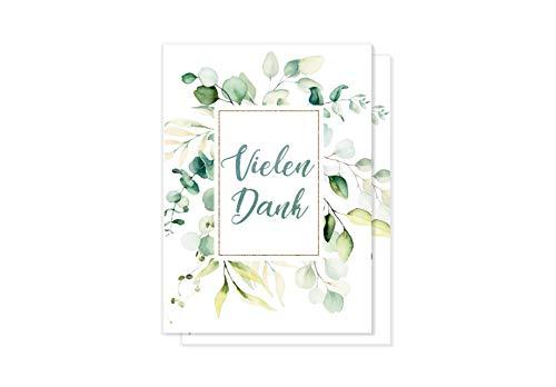 15 hochwertige Dankeskarten mit Umschlag – Vielen Dank Karten - ein Set von Davom