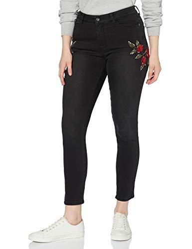find. Embroidered Slim Jeans, Schwarz (Black), W28/L32 (Herstellergröße: 36)