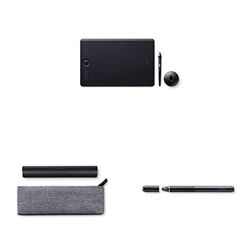 Wacom Intuos Pro Medium - Tablette Graphique à Stylet Professionnelle - Compatible avec Mac, Window + Paper Clip Finetip