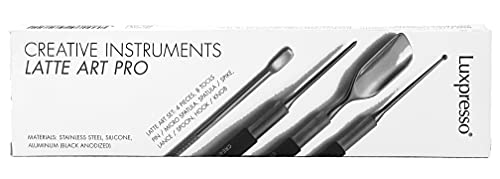 Luxpresso Barista Besteck/Barista Werkzeug - Creative Instruments - Profi Latte Art Tool Set, 4 Teile