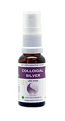 Natures Greatest Secret Premium Quality Colloidal Silver Handy Travel Spray, 20 ml