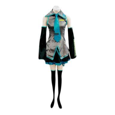 SUNKEE Vocaloid,Hatsune Miku Cosplay Disfraz, Tamaño M (Altura 158-163 cm, Peso 45-50 kg)