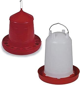 FINCA CASAREJO Pack Abreuvoir et mangeoire pour poules et autres oiseaux de 8 kg / 10 litres