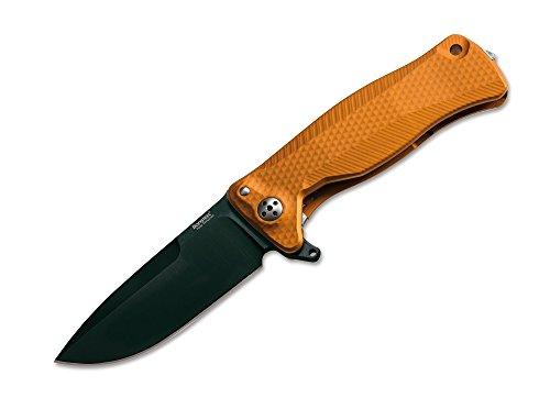 Lion Steel SR-11 01LS111 Couteau de Poche en Aluminium Orange 9,4 cm