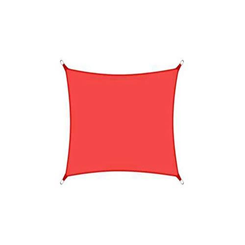 DIANPU Velas De Sombra para Patio, Cuadradas Impermeables Protección Solar Y Protección UV Velas De Sombra para Patio Exterior Y Jardín (2m*2m,Rojo)