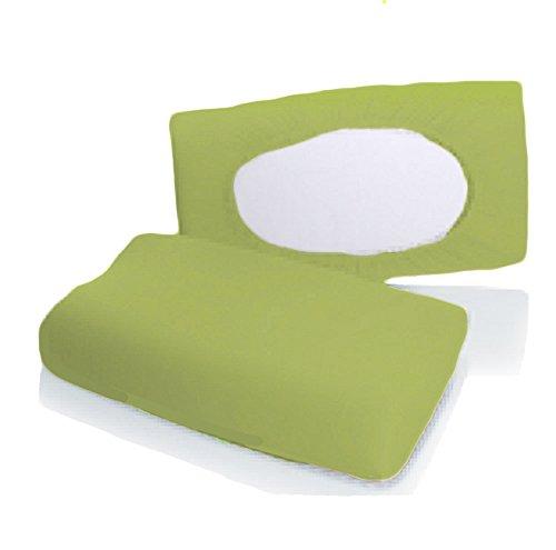 Bellana Gesundheitskissen Bezug Mako Jersey 30-50 x 40-80 cm und 8-15 cm Höhe cm Farbe: moos