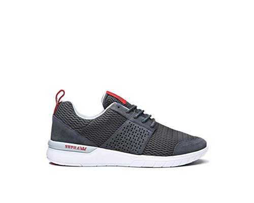 Supra Scissor Dark Grey/Risk Red/White Herren 7, Damen 8.5 D (M)