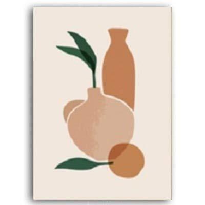 Skandinavien Nordic Geometric Abstract Figure Leinwand Malerei Poster Drucke Wandkunst Bilder für Wohnzimmer Wohnkultur BILD B 40x50 cm ohne Rahmen