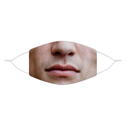 eiuEQIU Mundschutz 3D, Waschbar Mund Shield mit Motiv, Mehrweg Atmungsaktiv Stoff Bandana Halstuch Tuch, Mund und Nasenschutz