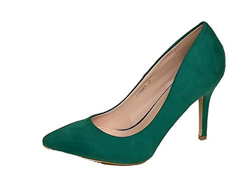 Rebelde - Salon Fino para Mujeres, Talla 39, Color Verde