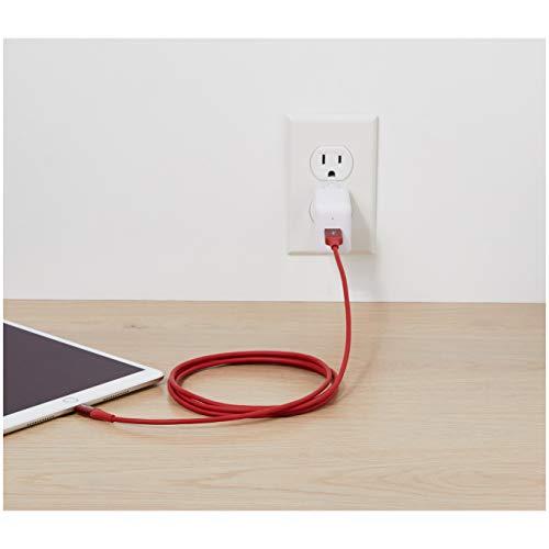 Amazon Basics - Lightning-auf-USB-A-Kabel, Premium-Kollektion, 1,8 m, 1er-Pack - Rot