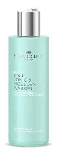 HORMOCENTA Clarify Micellar Facial Tonic - Tonique micellaire doux pour le visage au miel d'acacia et à l'extrait de grenade, 200 mL