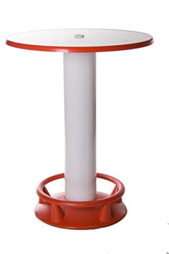 SEVERIN Stehtisch Quick Table rot/weiß, Stehbiertisch, Bistrotisch