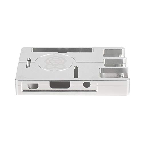 Ultra-thin Aluminum Alloy CNC Case for Raspberry Pi 3 Mode B3 Metal Portable Box New Version for 3B(silver)