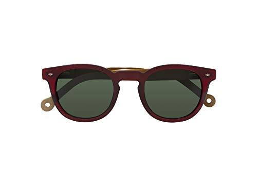 Parafina - Gafas de Sol Polarizadas para Hombre y Mujer - Gafas de Sol Redondas Anti-reflejantes Ruby Volcano - Lentes Verdes