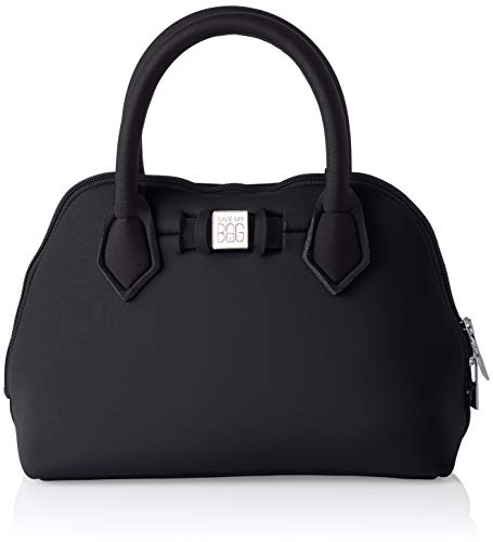 save my bag Princess Mini, Borsa a Mano Donna, Nero/Nero, 25x19x12 cm (W x H x L)