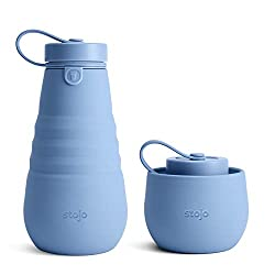 COLLAPSIBLE WATER BOTTLE: Our reusable, convenient, collapsible water bottle is great for hydration on the go. Once you finish your drink, collapse your bottle, and stow! Save more space by attaching it to your bag strap COMPACT & LEAKPROOF: The coll...