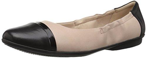 Clarks Women's Gracelin Jenny Ballet Flat, Nude Pink Leather, 9 Wide
